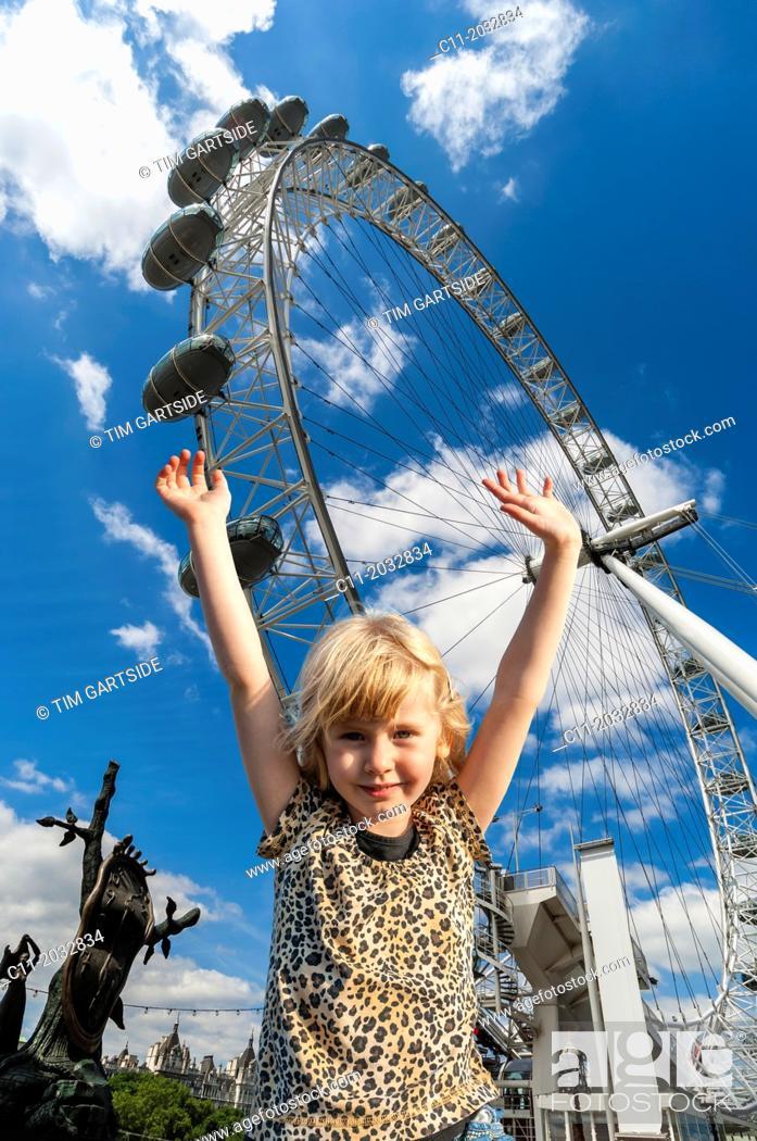 Stock Photo: london eye,london, England, Europe, UK.