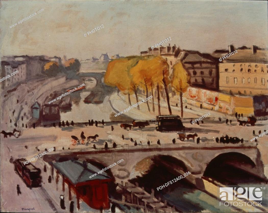 Stock Photo: Albert Marquet French school Le Pont Saint-Michel et le quai des Grands Augustins 1912 Oil on canvas (66 x 82 cm) Paris, musée national d'Art Moderne.