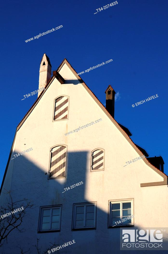 Stock Photo: Half-timbered house in Memmingen.