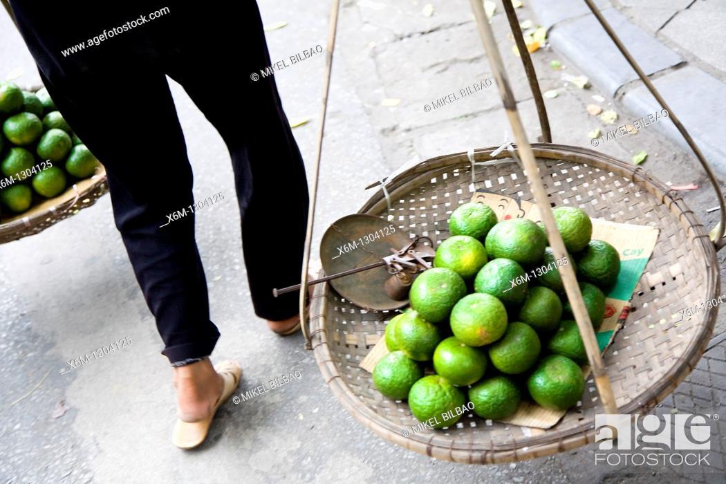 Stock Photo: Hawker, Hanoi, Vietnam.