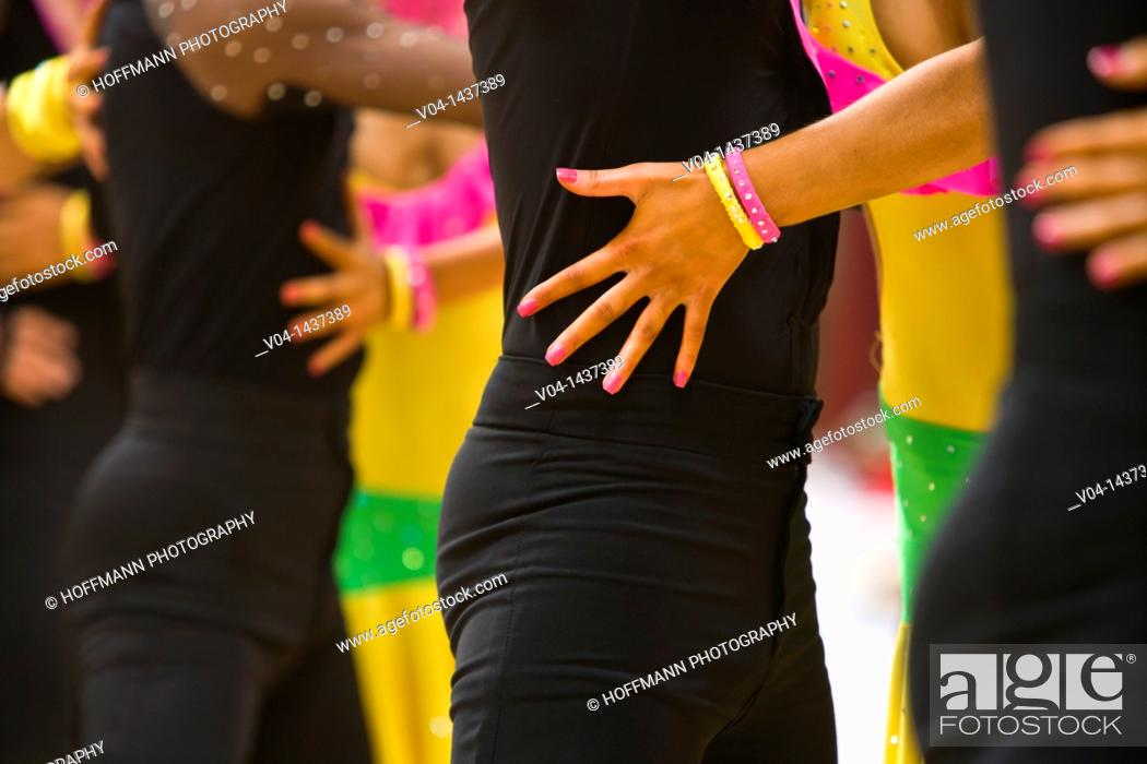 Stock Photo: Pattern of dancers at a dancing competition in Germany, Europe.