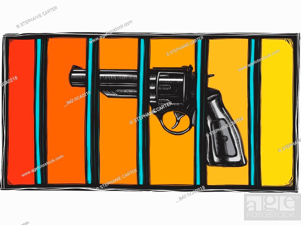 Stock Photo: restricting firearms.