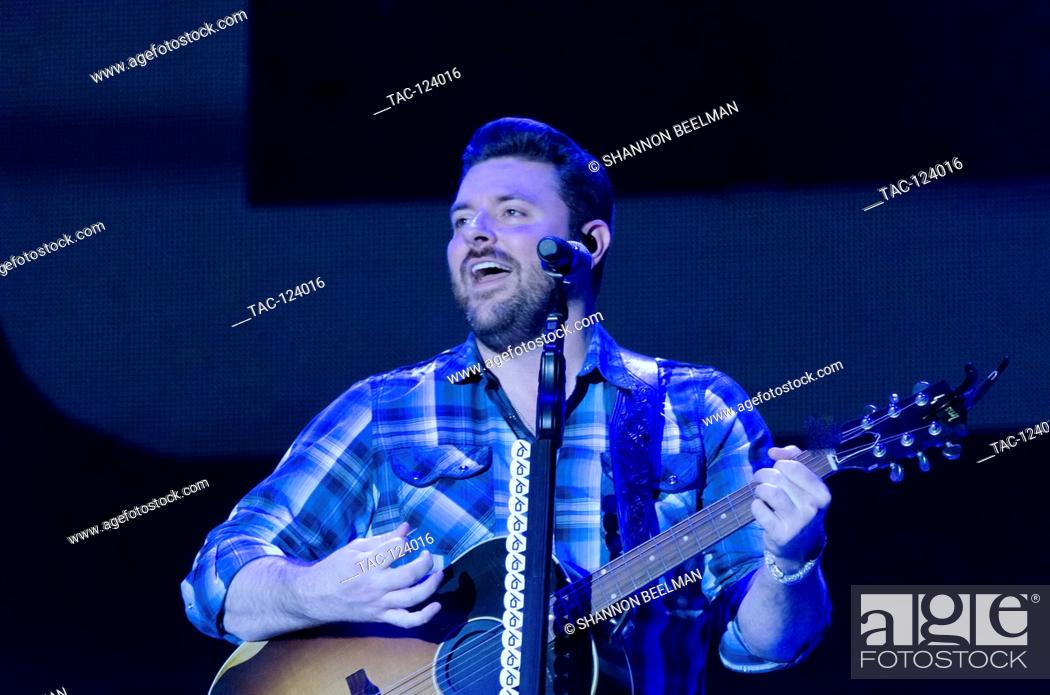 Stock Photo: Chris Young preforms at day 2 of the Route 91 Harvest Festival at the Las Vegas Village on October 1st 2016 in Las Vegas, Nevada.
