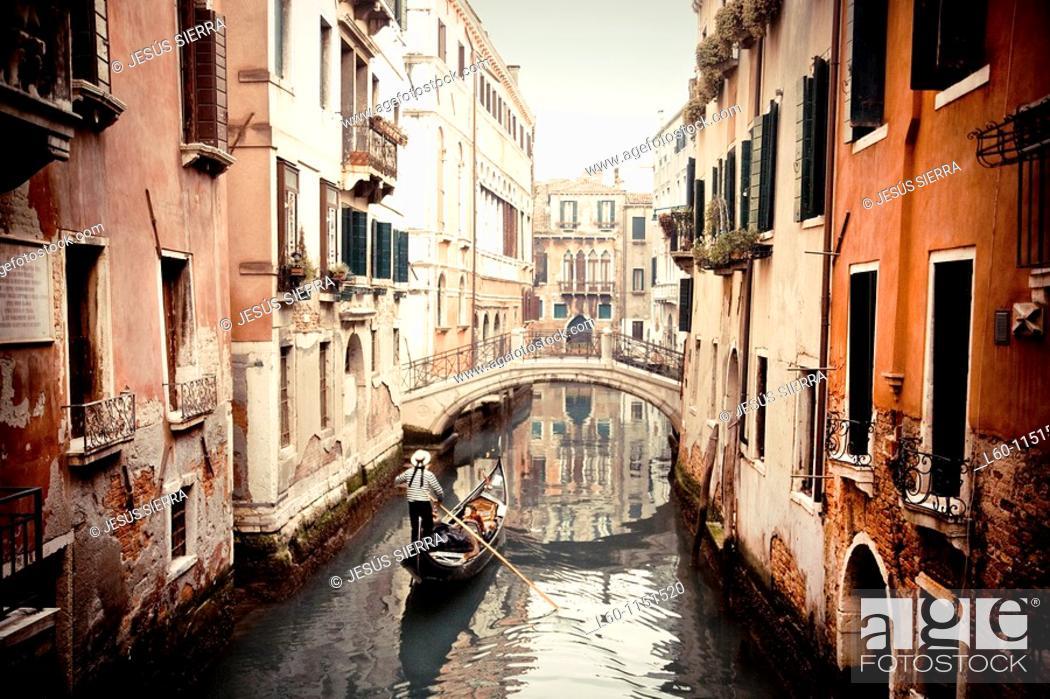 Stock Photo: Romantic Venezia, Venice, Italy.