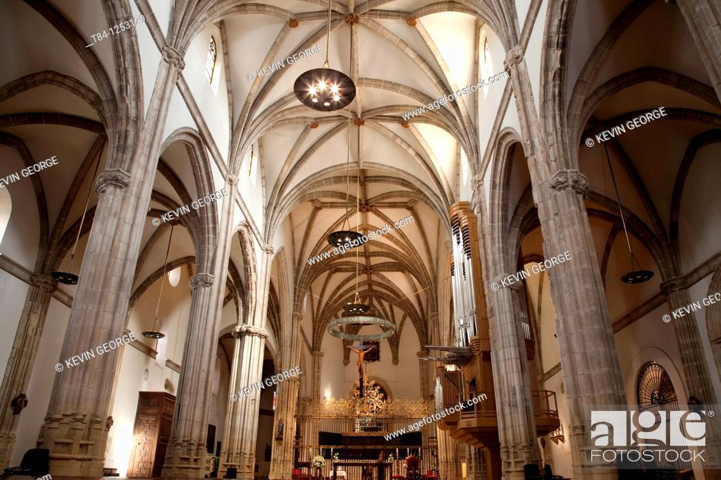 Stock Photo: Interior of Alcala de Henares Cathedral, Madrid, Spain.