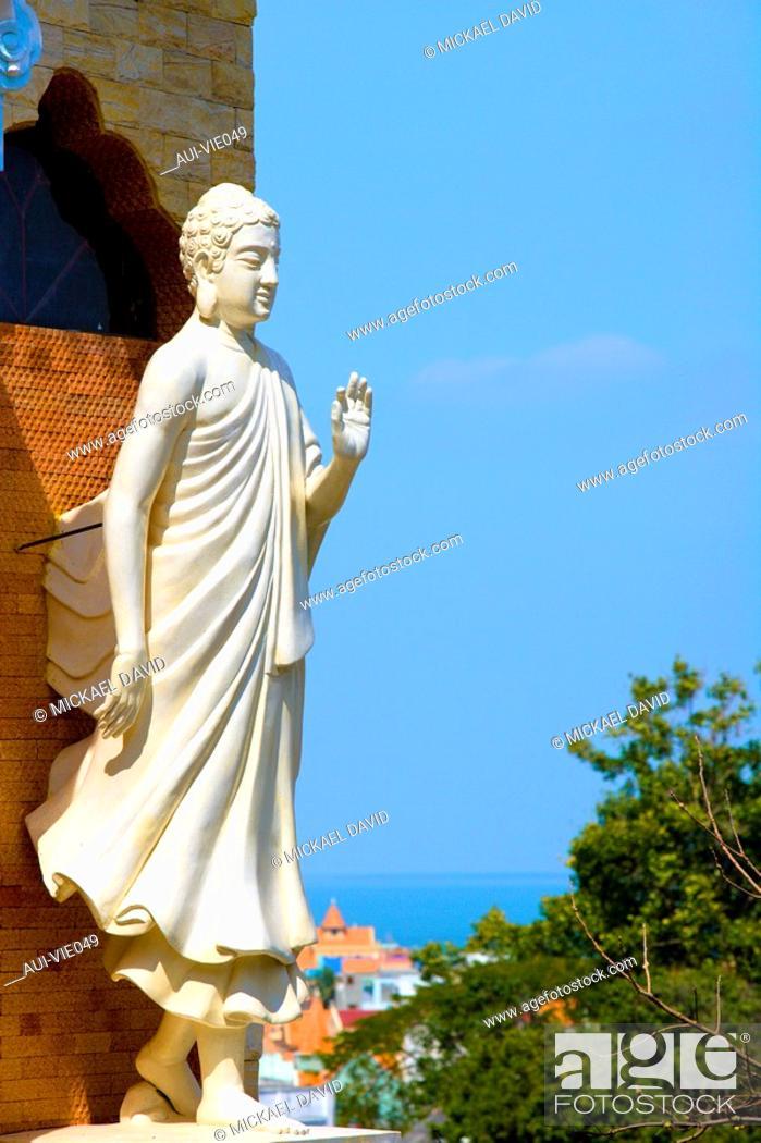 Stock Photo: Vietnam - The South - Vung Tau Cape Saint Jacques - Thich Ca Phat Dai Pagoda.
