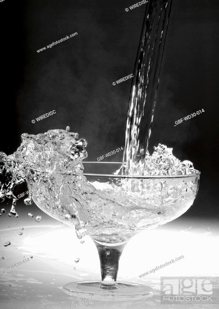 Stock Photo: Liquid, water, cup.