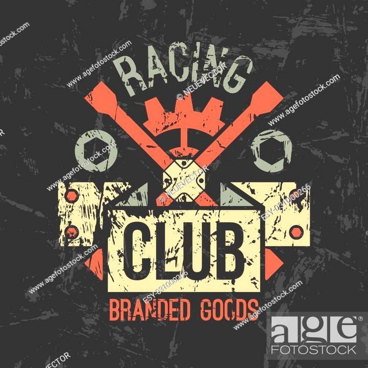 Car Racing Club Emblem In Retro Style