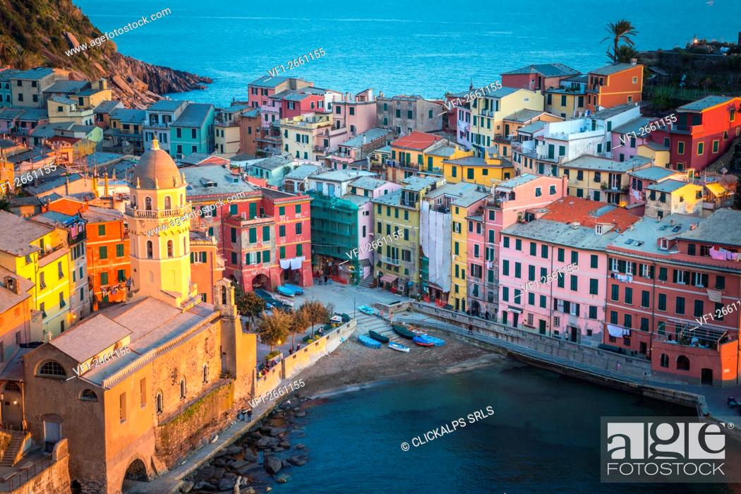 Stock Photo: Vernazza, Cinque Terre National Park, Liguria, Italy.