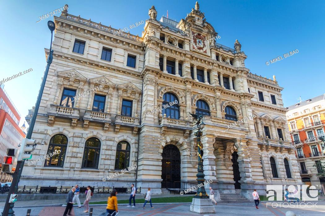 Stock Photo: Palacio Foral (Biscayan government). Bilbao. Biscay, Spain, Europe.
