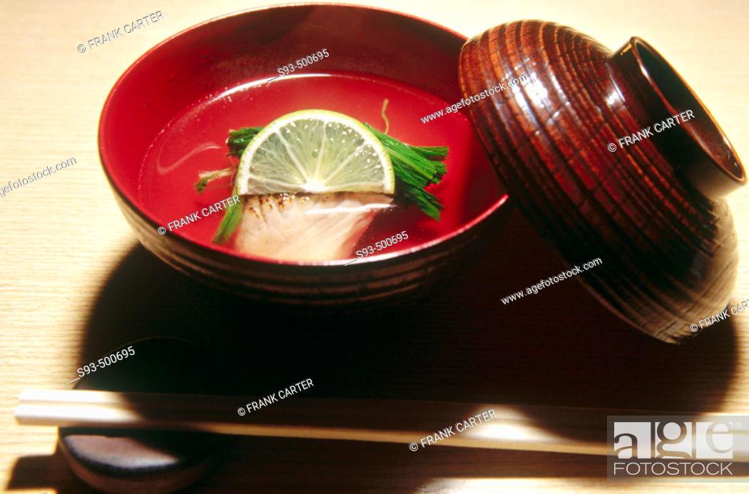 Stock Photo: A Kaiseki dish. Kyoto city. Kyoto. Japan.