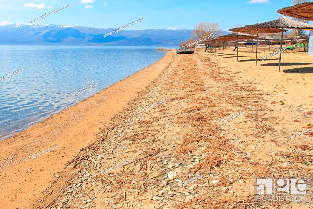 Stock Photo: Beach of Dolno Dupeni in Macedonia, near Greece border.