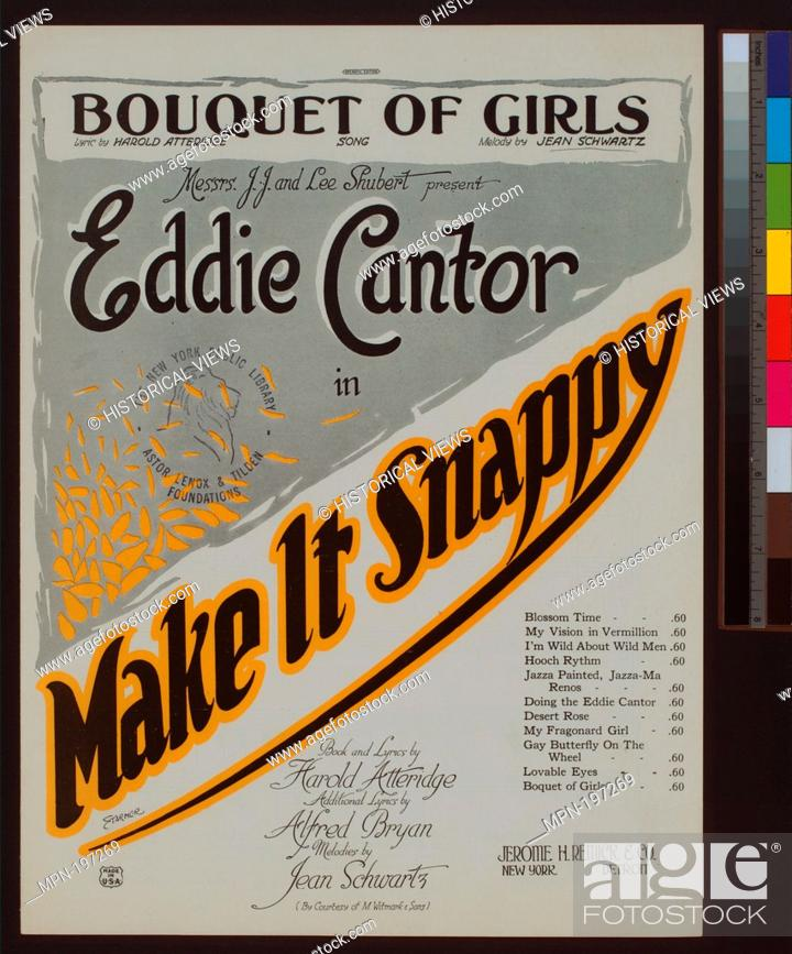 Stock Photo: Bouquet of girls : song Additional title: Make it snappy. Bouquet of girls. Vocal score. Starmer (Illustrator) Atteridge.