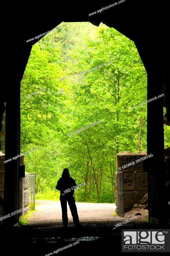 Stock Photo: Othello Tunnels, Coquihalla Canyon Provincial Park, British Columbia, Canada.