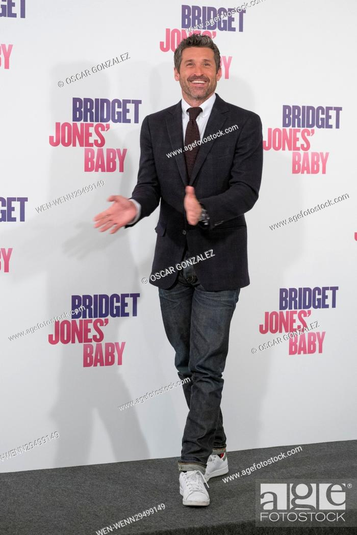 Bridget Joness Baby Photocall In Madrid Featuring Patrick Dempsey