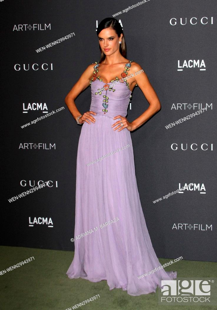 Photo de stock: 2016 LACMA Art + Film Gala held at the Los Angeles County Museum of Art Featuring: Alessandra Ambrosio Where: Los Angeles, California.