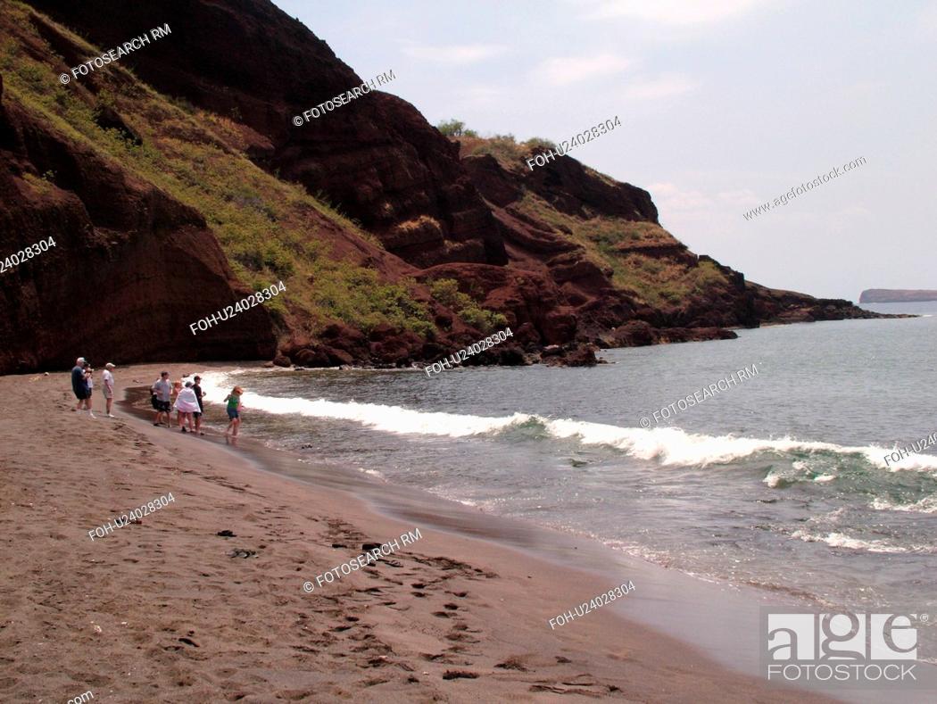 Stock Photo: Makena, Maui, HI, Hawaii, Leeward Coast, Makena Bay, Onelui beach, Little Black Sand Beach.
