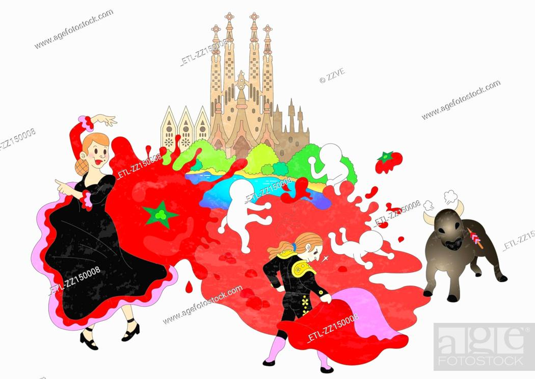Stock Photo: Attractions of Spain.