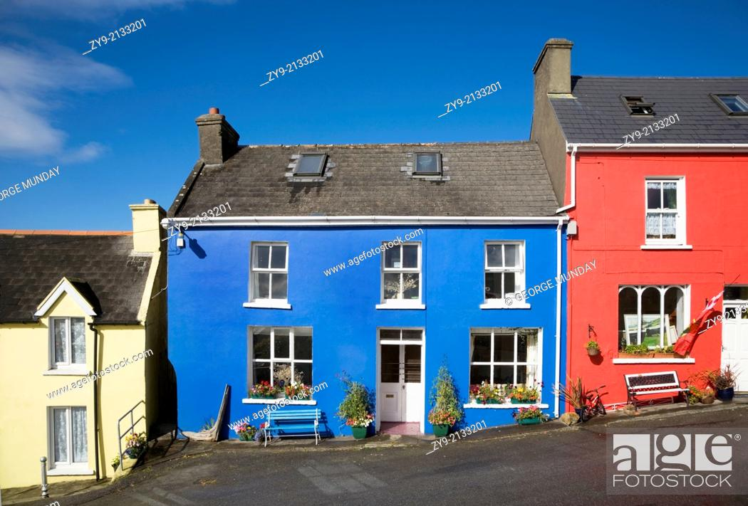 Stock Photo: Eyeries Village, Beara Peninsula, County Cork, Ireland.