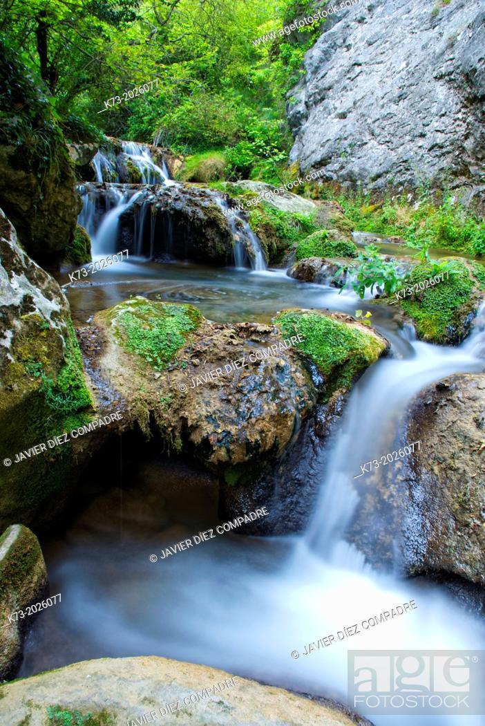 Stock Photo: Puron River. Valderejo Natural Park. Alava. Basque Country. Spain.