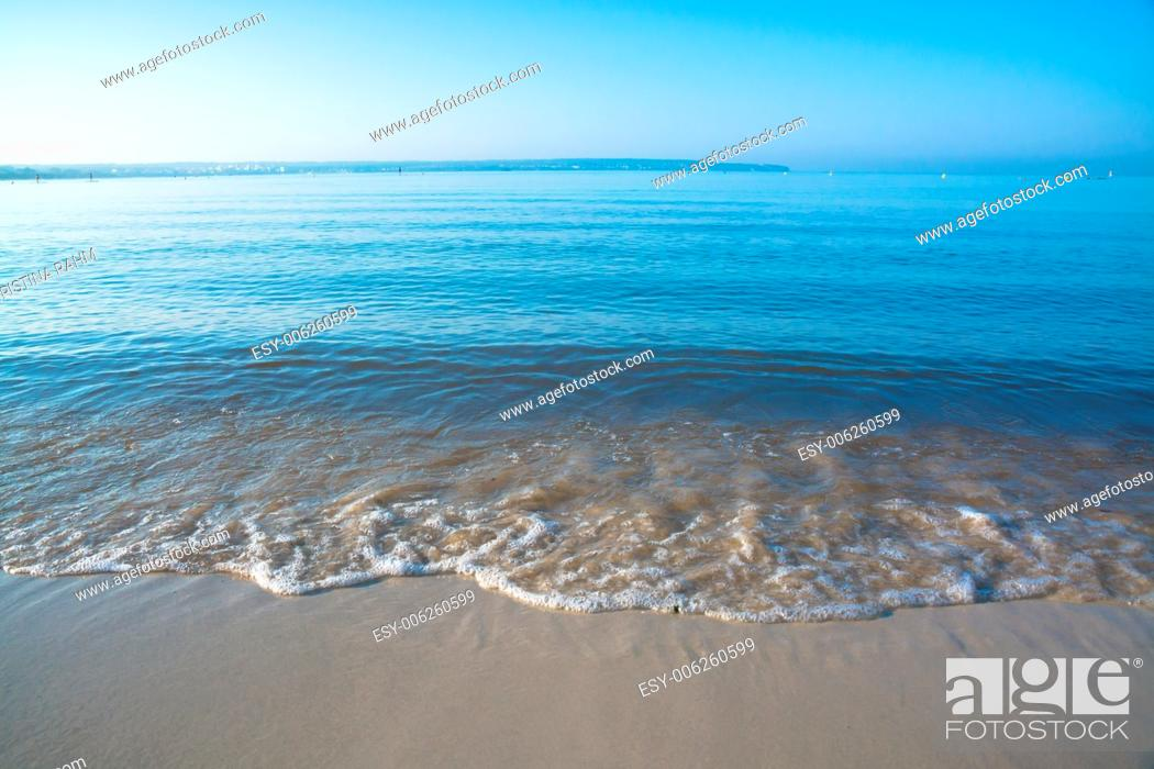 Stock Photo: Morning waves closeup. Mallorca, Balearic islands, Spain in July.