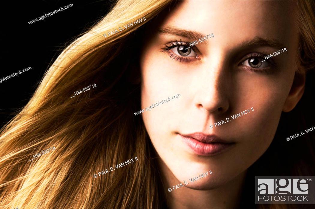 Stock Photo: Portrait of a blonde woman.