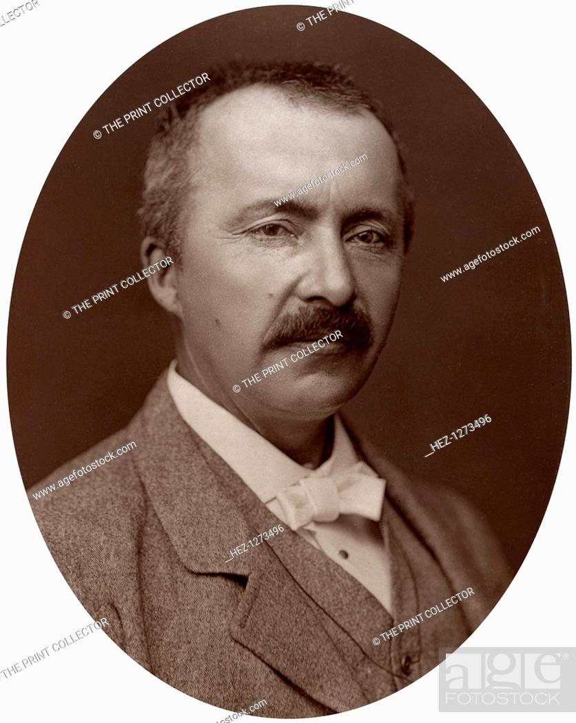 Photo de stock: Dr Heinrich Schliemann, German Homeric Archeologist, 1877. Schliemann excavated the sites of the ancient cities of Mycenae and Troy.