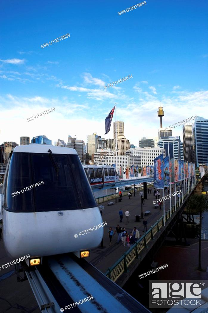 Stock Photo: Monorail from Sydney, Australia.