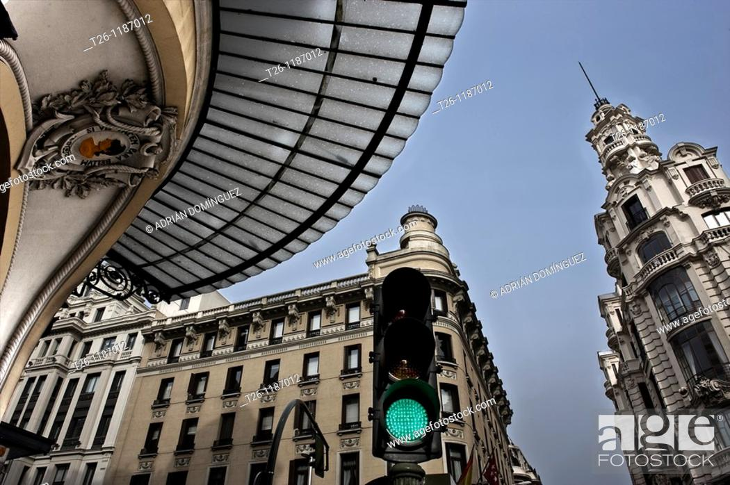 Stock Photo: Gran Via, Madrid  Spain.