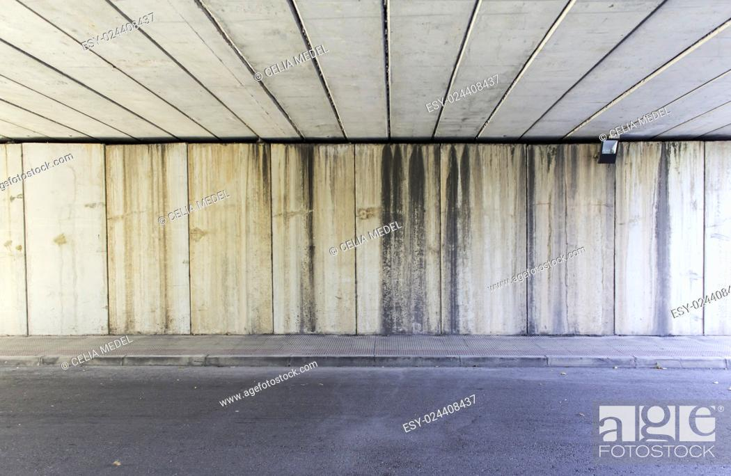 Stock Photo: Tunnel in urban road construction and transportation.