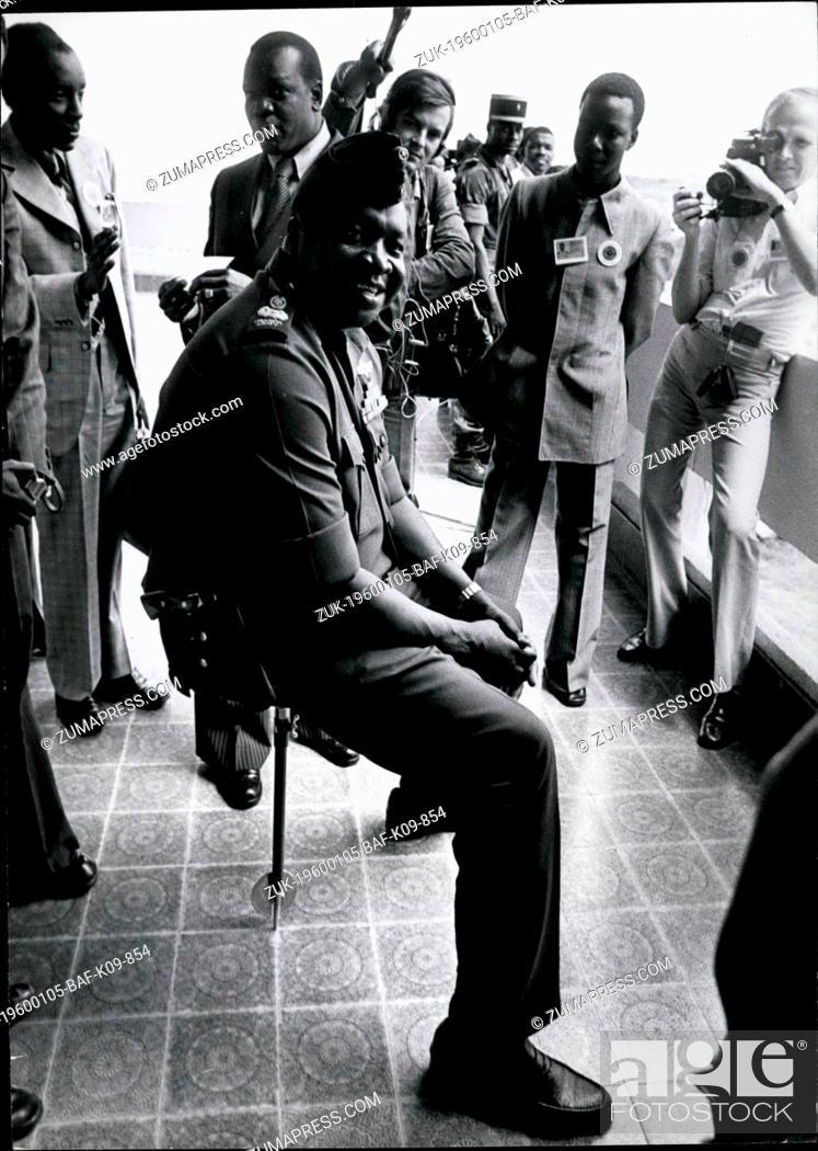 1968 - Uganda President Idi Amin Dada, rests on a shooting
