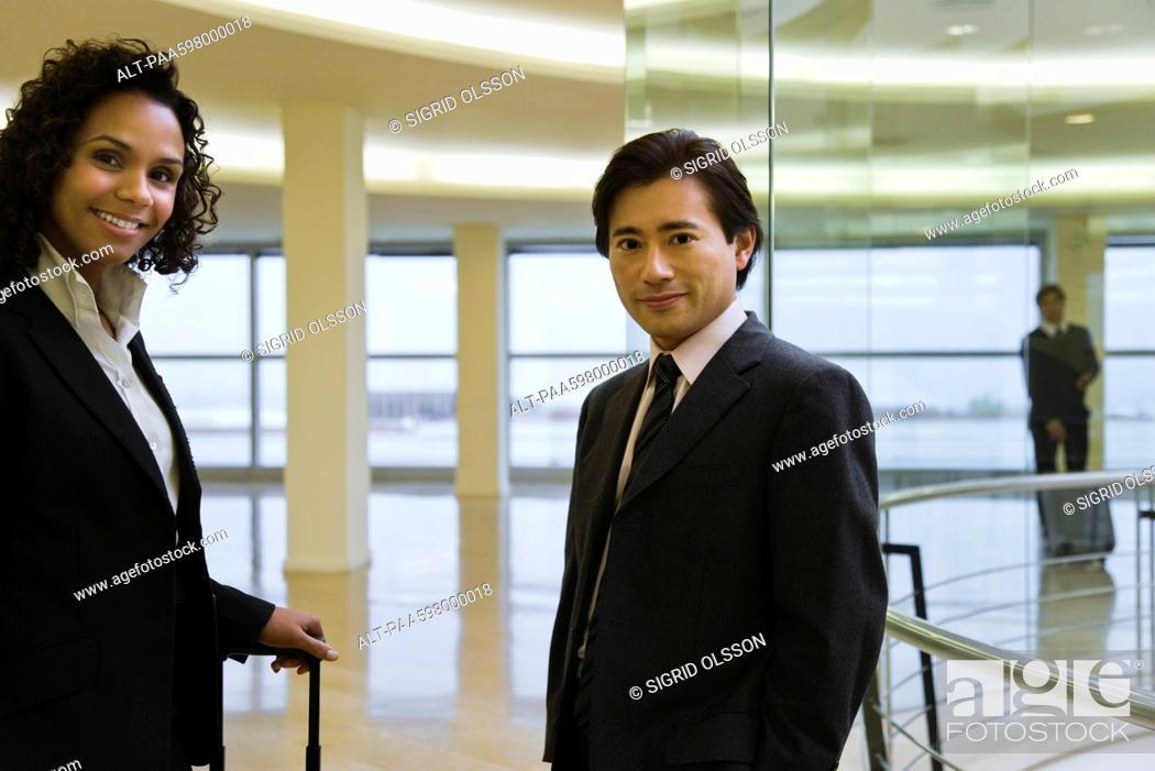 Stock Photo: Executives, portrait.