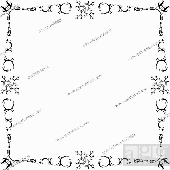 Stock Photo: Black and white frame.