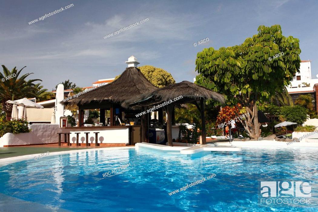 Swimming Pool And Pool Bar Hotel Jardin Tecina La Gomera Canary