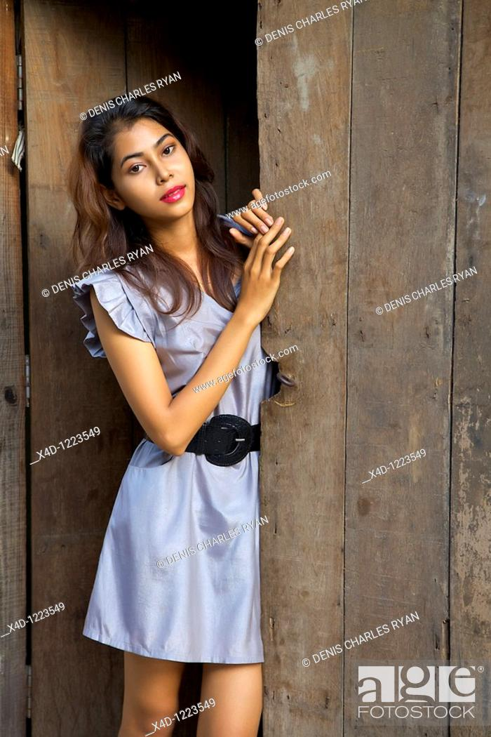 Stock Photo: Young woman, Cambodia.