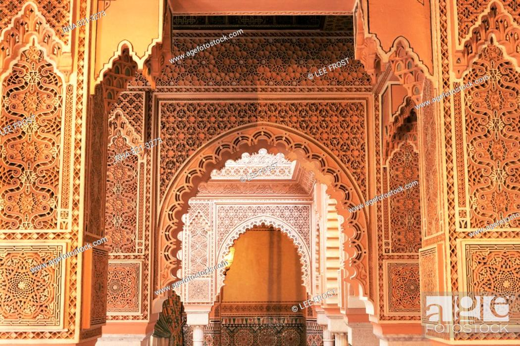 Interior View Of Moroccan Restaurant La Mamounia Hotel Marrakech Morocco North Africa Stock Photo Picture And Rights Managed Image Pic Rha 321 3273 Agefotostock