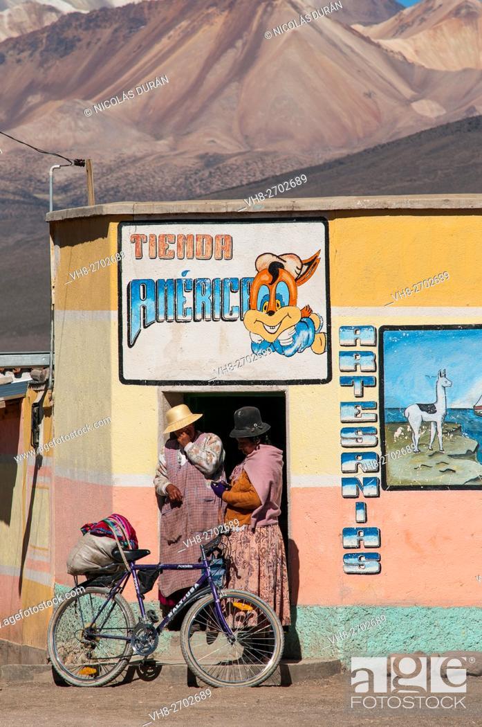 Stock Photo: Sajama Shop. Sajama National Park. Oruro Departament. Bolivia.