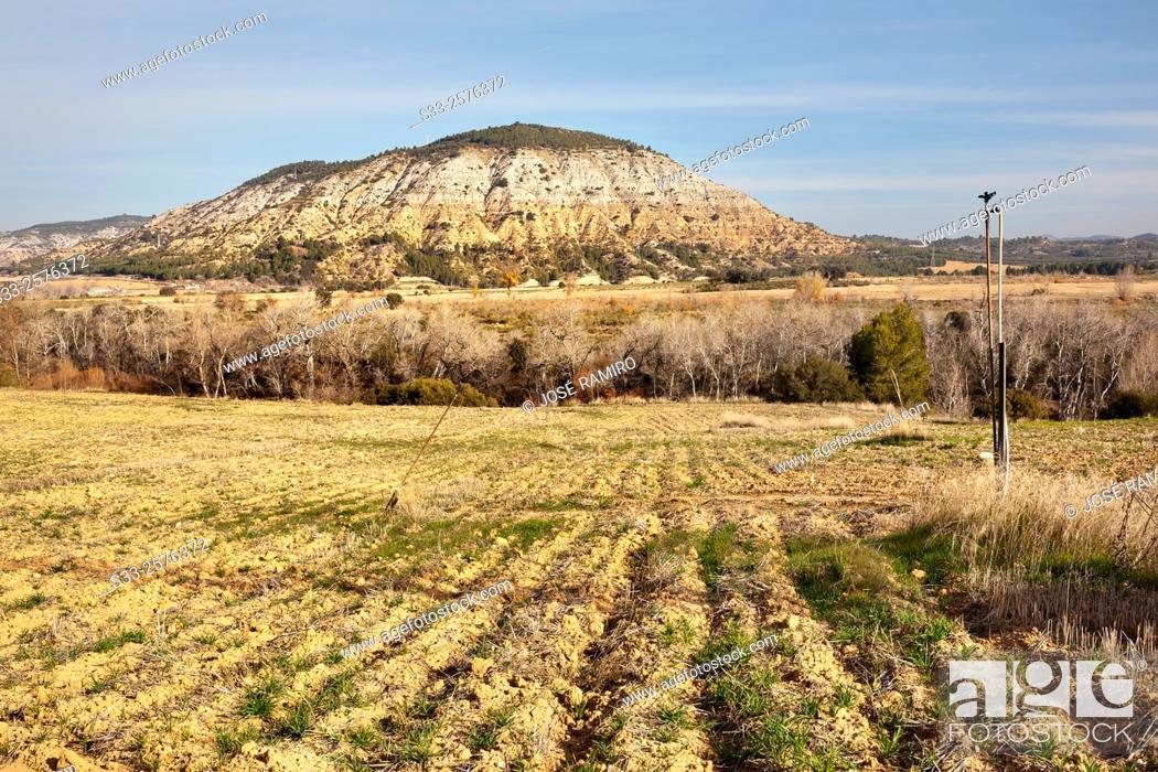 Stock Photo: Rincon hills. Yebra. Guadalajara. Castilla la Mancha. Spain. Europe.