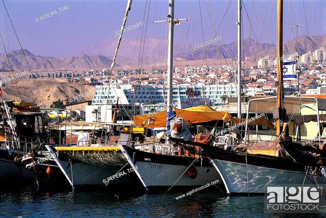 Stock Photo: Israel, Eilat, harbour.
