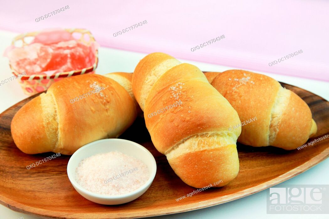 Stock Photo: Salted bread.