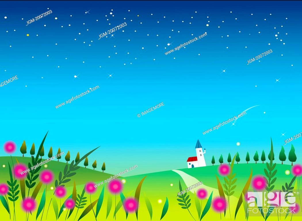Stock Photo: Illustration and painting of beautiful scenery.