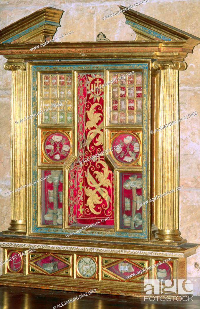 Stock Photo: Saints' bones shrine in the cathedral, Segovia. Spain.