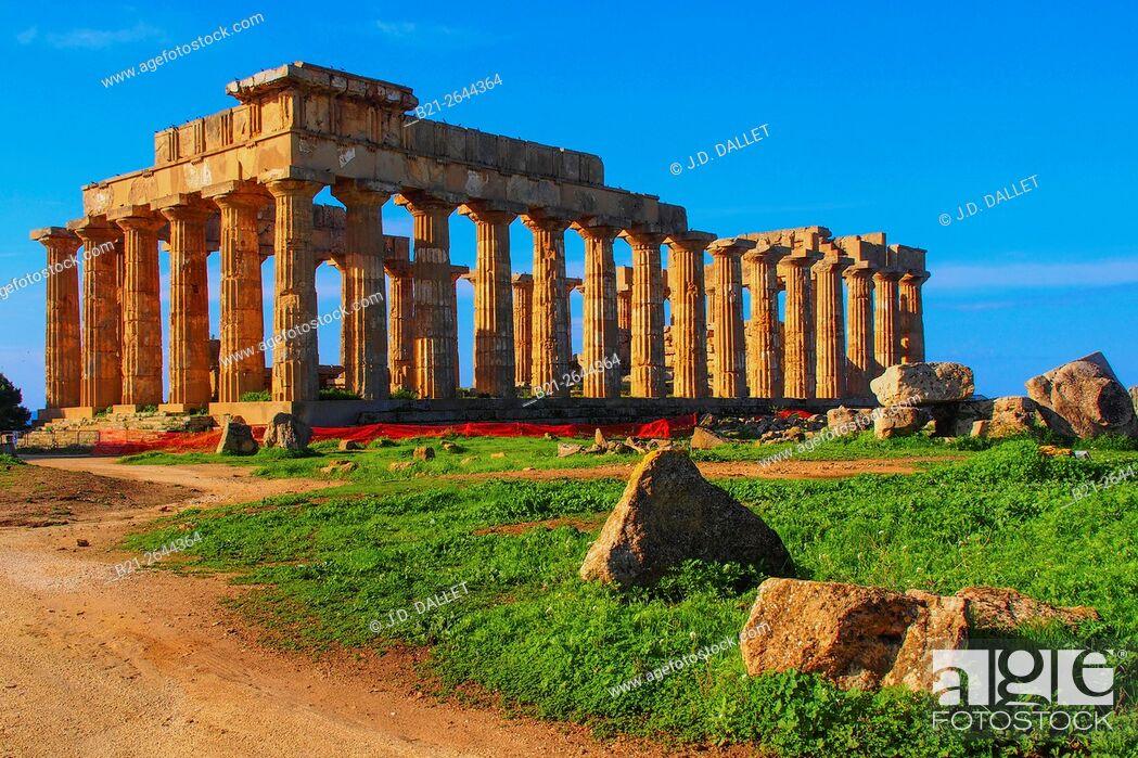 Stock Photo: Ruins of Selinunte, Sicily, Italy.