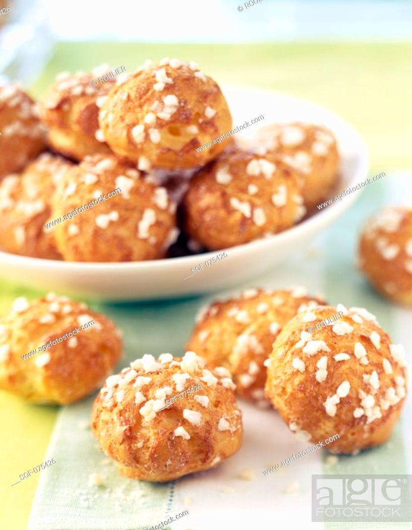 Stock Photo: Sugar-coated chou buns.