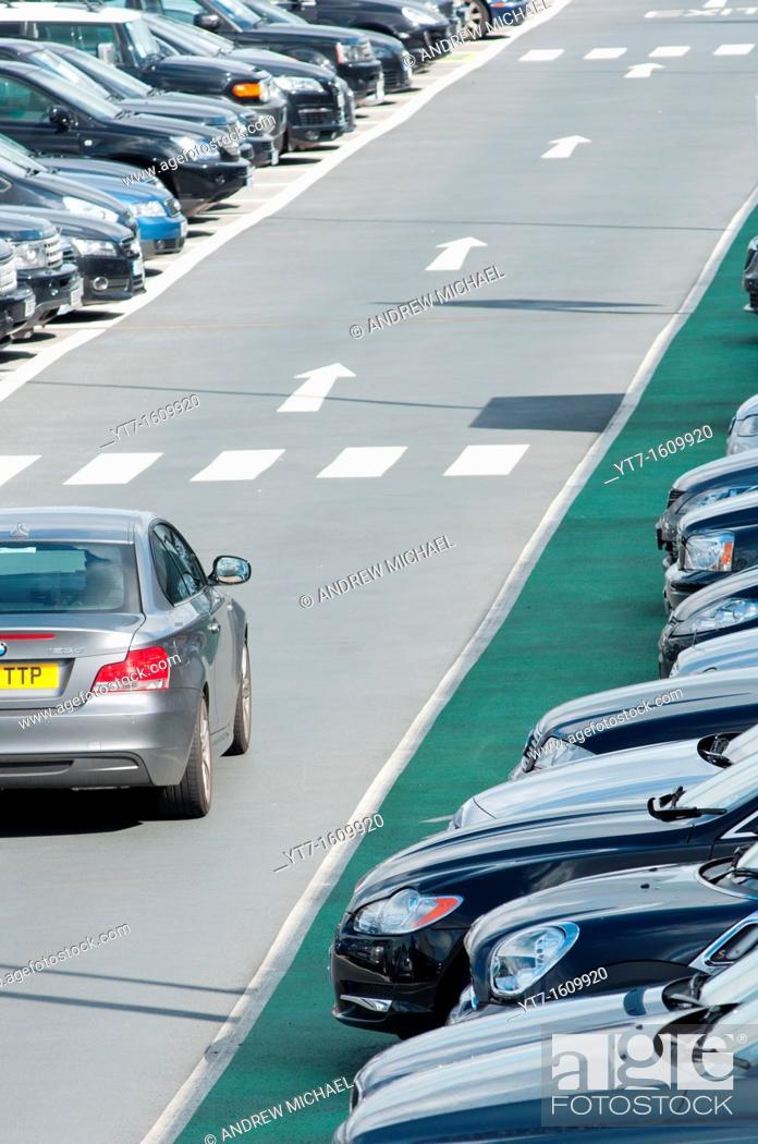 Stock Photo: Terminal 5 Car parking at Heathrow airport  London  England.