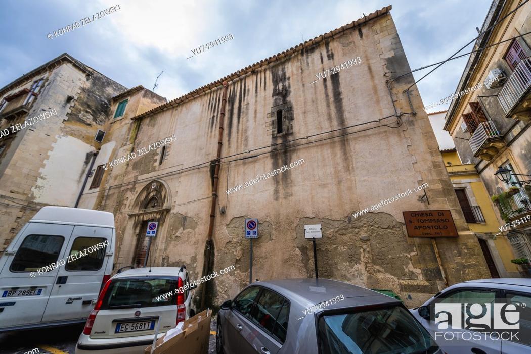 Photo de stock: Chiesa di San Tommaso Apostolo (Church of Saint Thomas the Apostle) on the Ortygia island, historical part of Syracuse city.