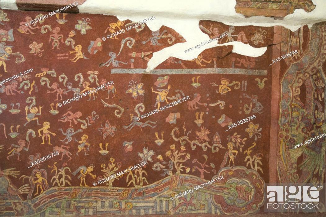 Wall Mural El Tlalocan Tlaloc S Paradise Palace Of Tepantitla