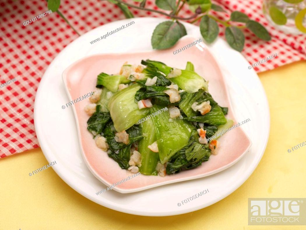 Stock Photo: dishes, Food styling, dish, dishes, dish, Chinese, roasted Pak Choi.