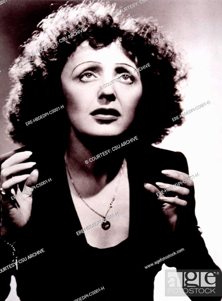 Stock Photo: EDITH PIAF, c. mid 1940s.