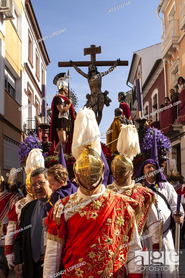 Stock Photo: Holy Week procession, PUENTE GENIL, CORDOBA, ANDALUSIA, SPAIN, EUROPE.
